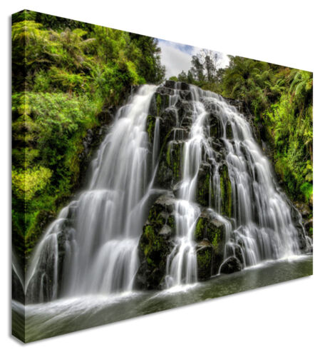 Waterfall Forest Cascade Canvas Wall Art Picture Print