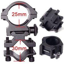 Barrel Clamp Mount + 1 inch Scope Ring Picatinny Weaver - Universal Adjustable