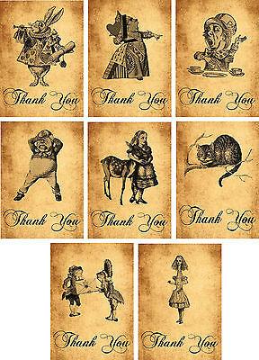 Alice in Wonderland vintage style note cards set of 5