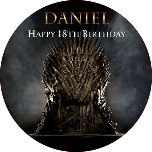"""Game of Thrones 7.5/"""" ROUND Cake Topper Rice Paper//Icing 24HR POST!"""