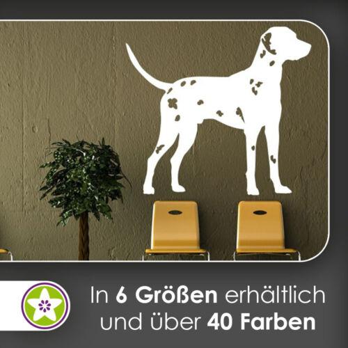 waf1572 KIWISTAR Dalmatiner Silhouette Wandtattoo in 6 Größen