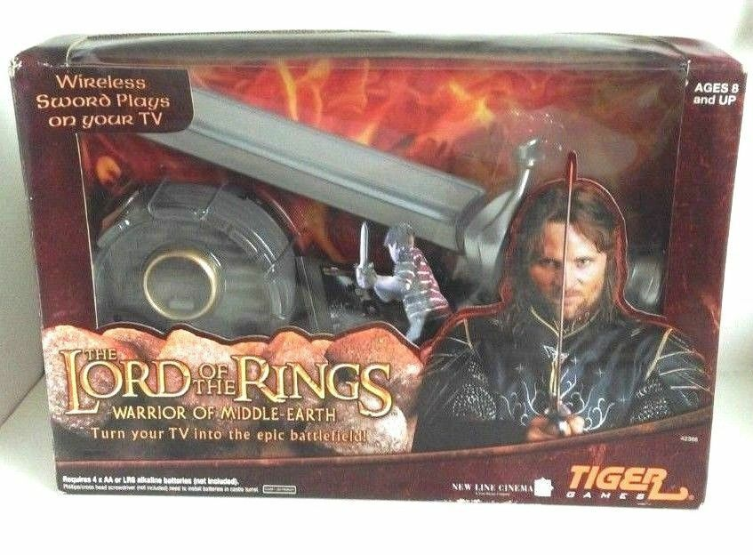 Lord Of The Rings Warrior of Middle-Earth Video Game Wireless Sword Play on tv