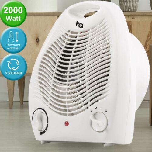 Calor ventiladores baño cuarto sopladores calor 2 escalones 2000 W de distribución asa de transporte blanco