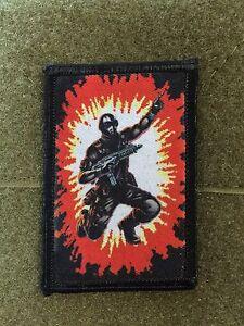 GI-Joe-Snake-Eyes-patch-moral-militaire-tactique-armee-insigne-Crochet-Drapeau