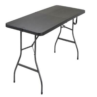 6 Ft Folding Table Centerfold Portable Card Picnic Steel
