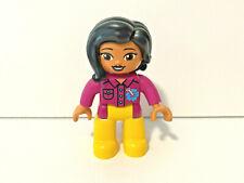 Lego Duplo Female Girl Woman from 10906 Tropical Island Black Hair Lot Set