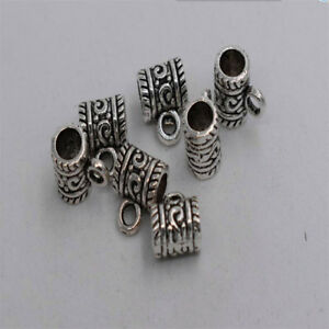 8pcs-Antique-silver-plated-tube-bail-pendant-connector-T0268