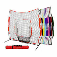 Powernet Team Color Hitting Net & Frame 7x7 Baseball/softball - Variety Colors