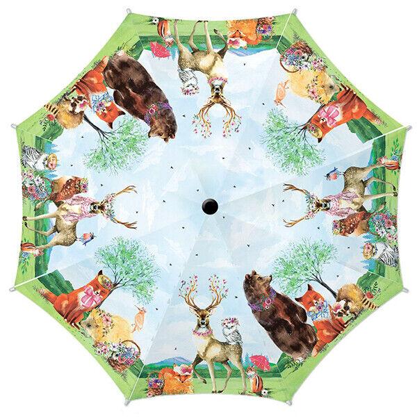 Animal Deer Compact Foldable Rainproof Windproof Travel Umbrella