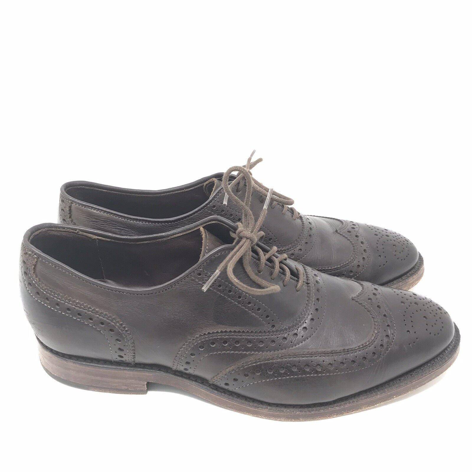 più economico Allen Edmonds scarpe Dimensione 9 Uomo The Jefferson Jefferson Jefferson Oxfords Marrone Wingtip Leather  clienti prima reputazione prima