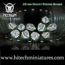HiTech Miniatures 25mm Rocky Round Bases (10) | Rundbases, Felsen-Thema