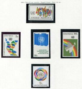 19132) United Nations (New York) 1976 MNH Definitives 5v
