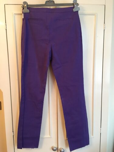 44it 12uk Violet Stretch m Taille Pantalon Versace Slim qEYOfHXx
