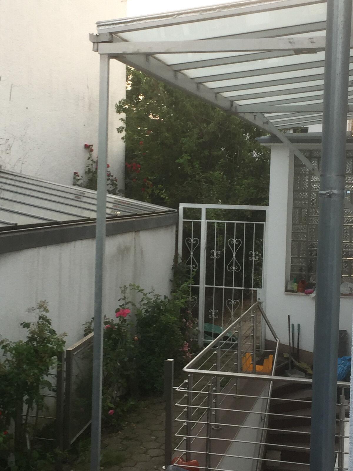 Aluminiumvordach 2 x 3  x 1,8 m für die Terasse, Vorgarten