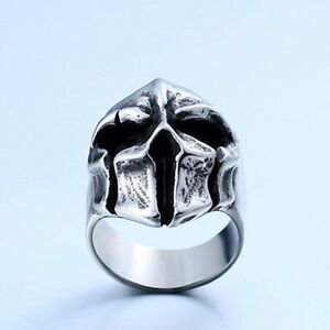 Terror-Jewelry-Men-Punk-Sparta-Warriors-316L-Stainless-Steel-Ring-BS283-Sz-7-13