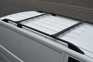 Black-Cross-Bar-Rail-Set-For-Roof-Bars-To-Fit-Volkswagen-T6-Transporter-2016