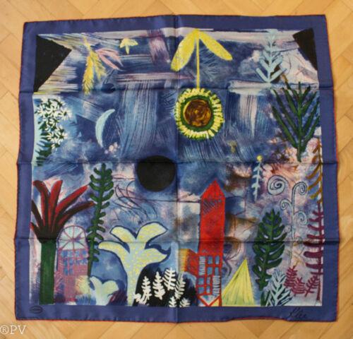 Seidentuch,reine Seide W Paul Klee art foulard Neuwertig