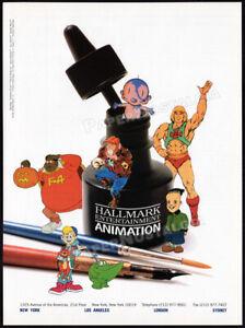 Hallmark-Animation-Orig-1995-Trade-AD-promo-BAD-BABY-HE-MAN-CAPTAIN-SIMIAN