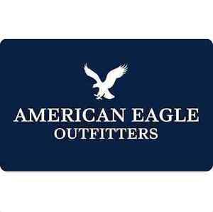 american eagle gift card 25 50 or 100 fast email delivery ebay. Black Bedroom Furniture Sets. Home Design Ideas