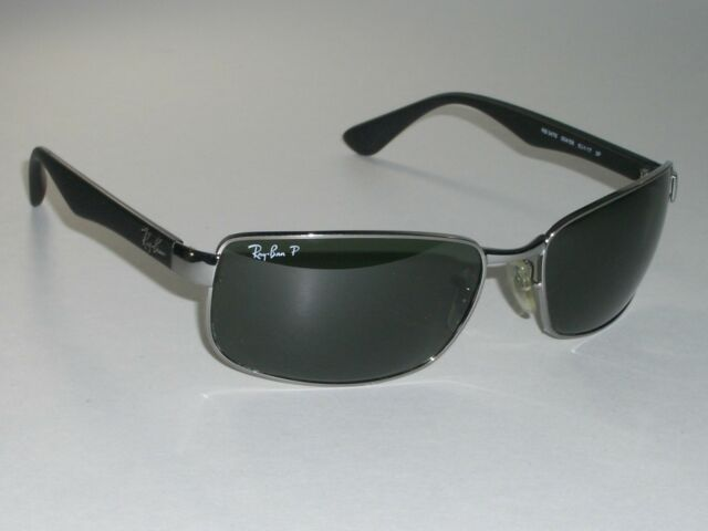 b0d836ff44e RAY BAN ITALY RB3478 004 63  17 130 GUNMETAL BLACK G15 UV METAL ...