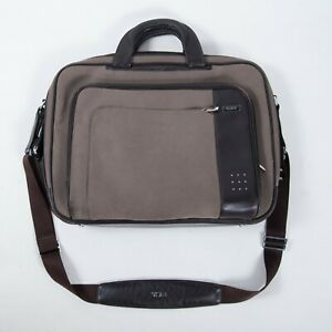 TUMI-LXT-Innovations-Brown-Fabric-Leather-Laptop-Bag-Briefcase