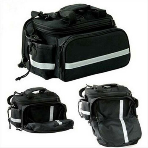 Bike Bicycle Rear Tail Seat Pannier Bag Pouch Rack Trunk Shoulder Cycling Pack