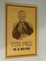 The Pill Is A No No 1968 Pandora Productions Religion Catholic Pope Vintage