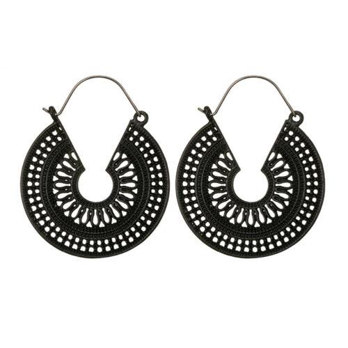 CN/_ Bohemian Women/'s C Shape Hollow Hoop Earrings Vintage Cocktail Jewelry Uti
