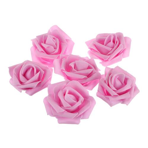 25pcs 7cm Artificial Flower Foam Rose for Wedding Bouquets DIY Home Party Decor