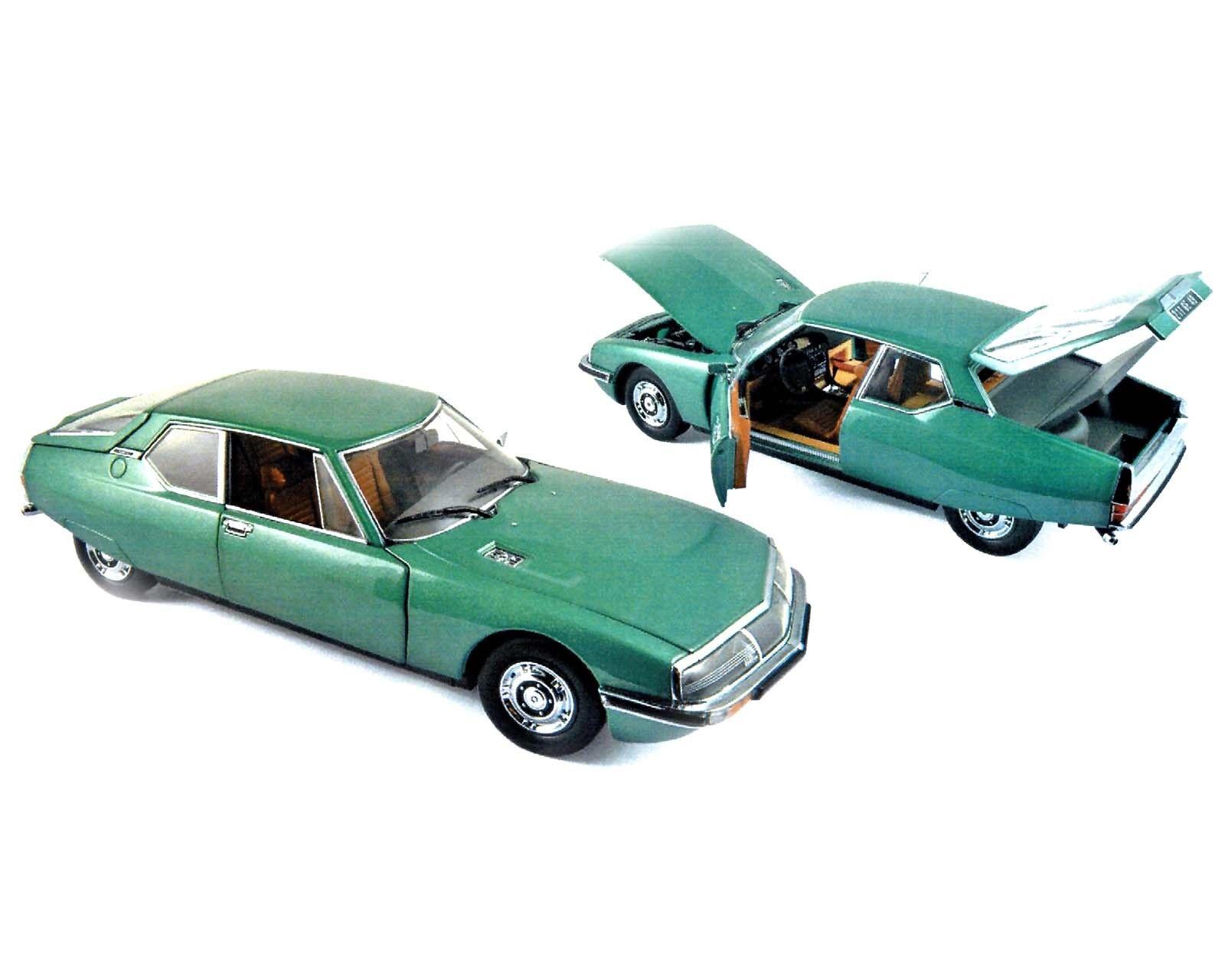 Citroen sm 1971, verde-metalizado, 1 18, norev