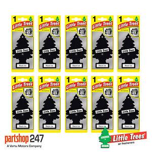 10 x BLACK ICE Magic Tree Little Trees Car Home Air Freshener Freshener