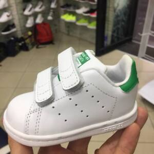 Adidas-Orginals-Stan-Smith-Bambino-Bambina-strappi-stretch-senza-lacci-pelle