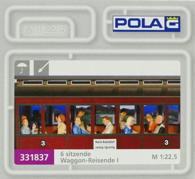 Pola 331837 G - sechs sitzende Waggon- Reisende I NEU & OVP