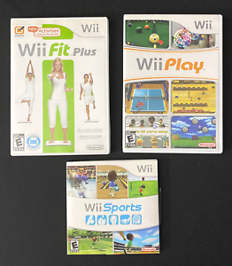 Nintendo-Wii-Play-Wii-Sports-Wii-Fit-Plus-Video-Game-Bundle-Untested