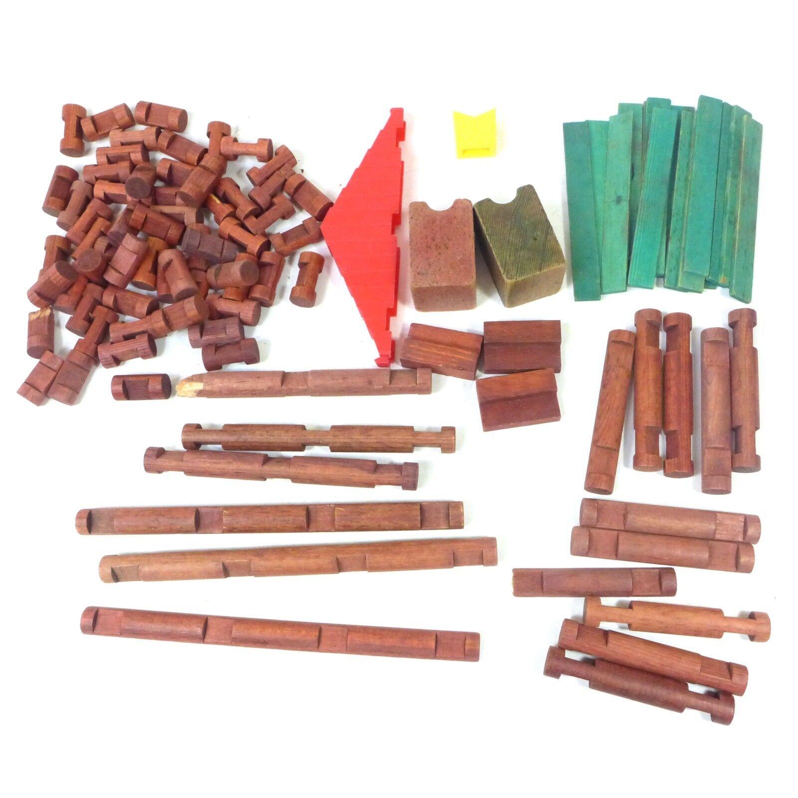 Viele oldtimer - 50 + pc lincoln logs allerlei spielzeug stücke gebäude (große)