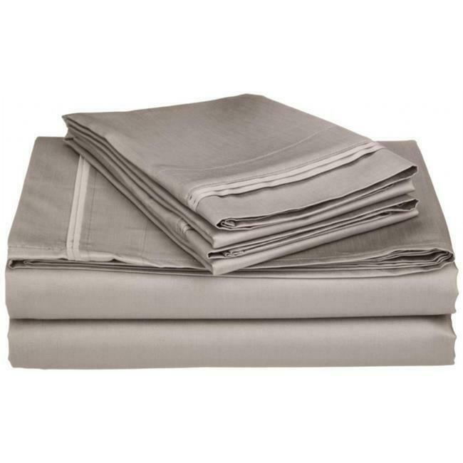 Egyptian Egyptian Egyptian Cotton 650 Thread Count Solid Sheet Set Olympic Queen-Grey 499221