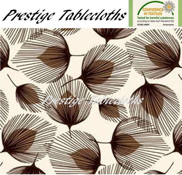 Whisper Feather PVC Vinyl Wipe Clean Tablecloth - ALL SIZES - Code  F726-4