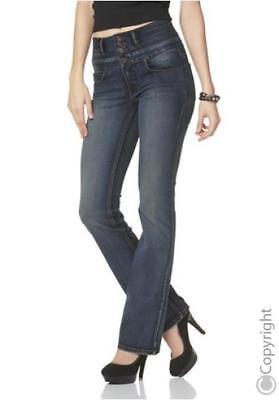 Arizona High Waisted Bootcut Jeans K Gr.17 (34) L30 NEU Damen Hose Stretch Denim | eBay