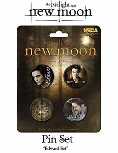 Twilight-Edward-Cullen-Robert-Pattinson-New-Moon-4-Buttons-Pins-Anstecker-NECA