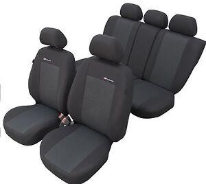 Schwarz Effekt 3D Sitzbezüge für MERCEDES-BENZ C-KLASSE Autositzbezug Komplett