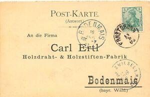 DEUTSCHES-REICH-1902-Germania-5-Pfg-m-Fingerhut-K1-034-ERNSTBRUNN-034-Osterreich-Bf