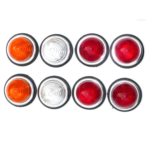 4 Red 2 Amber 2 Clear Lights BLMC Land Rover Mini Style Flush Mount Set Of 8