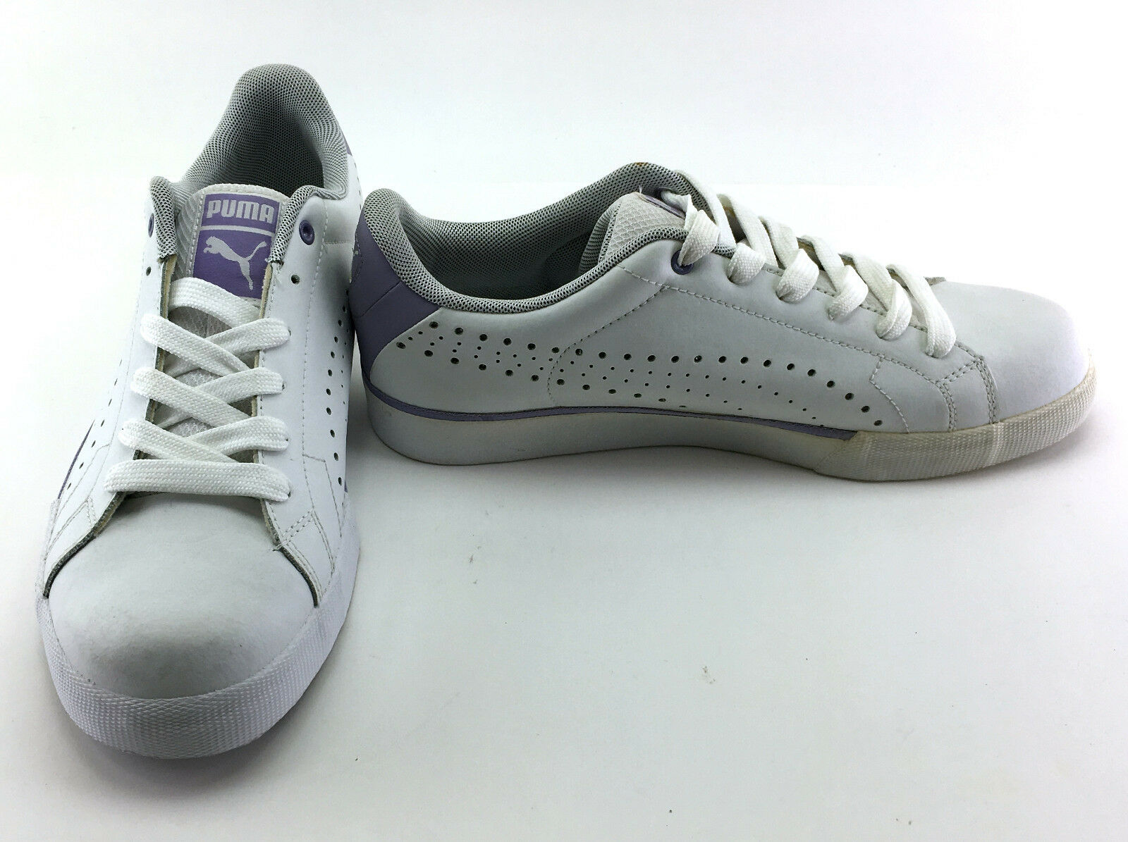 Puma shoes Game Point White Purple Sneakers Size 9.5