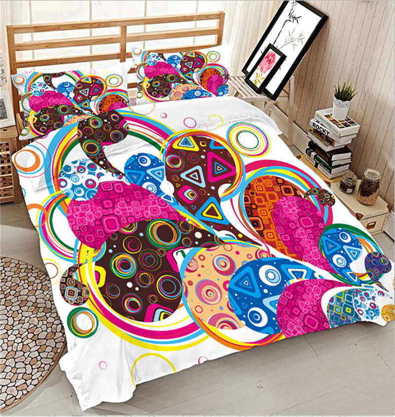 Graffiti Geometry 3D Printing Duvet Quilt Doona Covers Pillow Case Bedding Sets