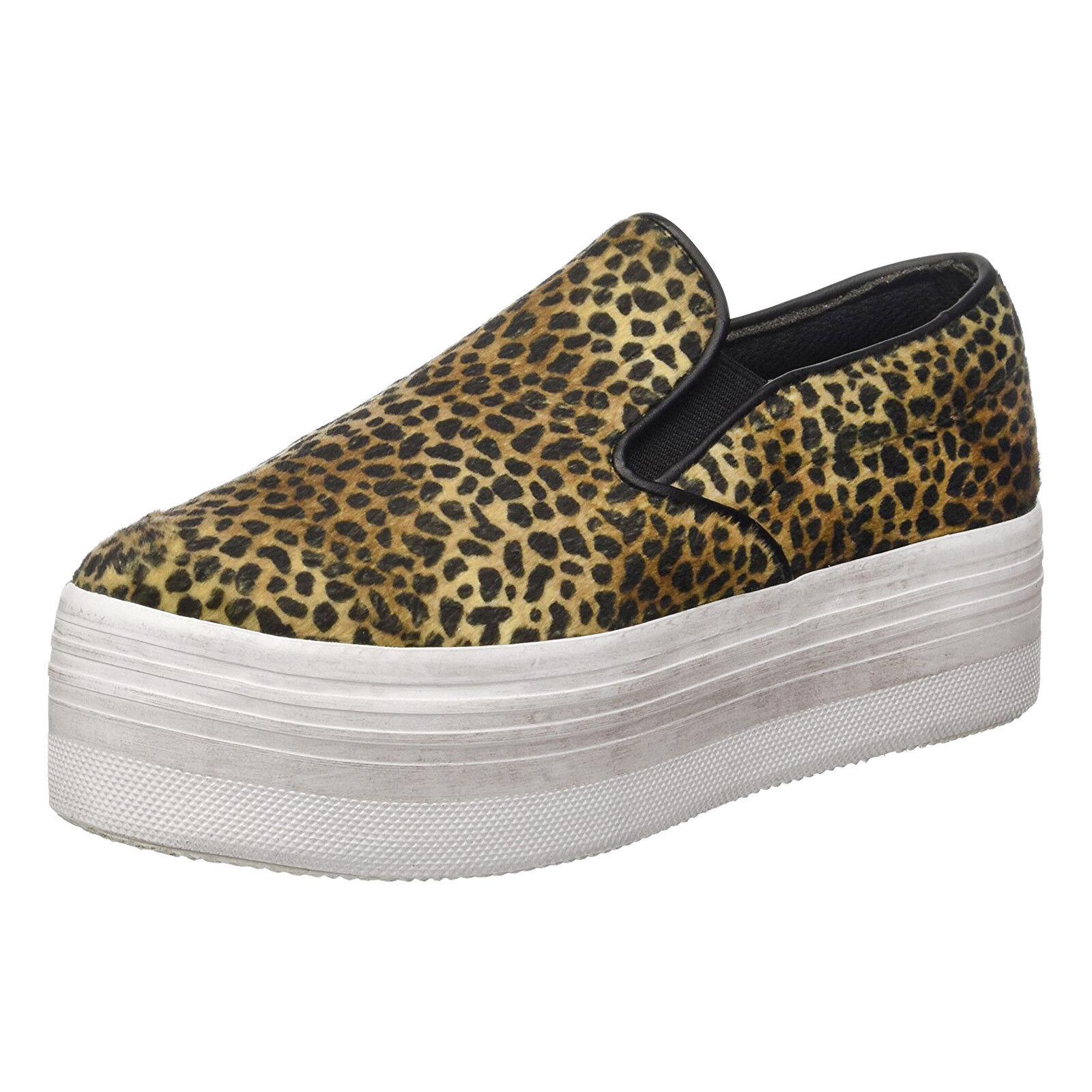 JEFFREY CAMPBELL chaussures pour femmes JC PLAY WTF PONY LEO BRUN noir léopard
