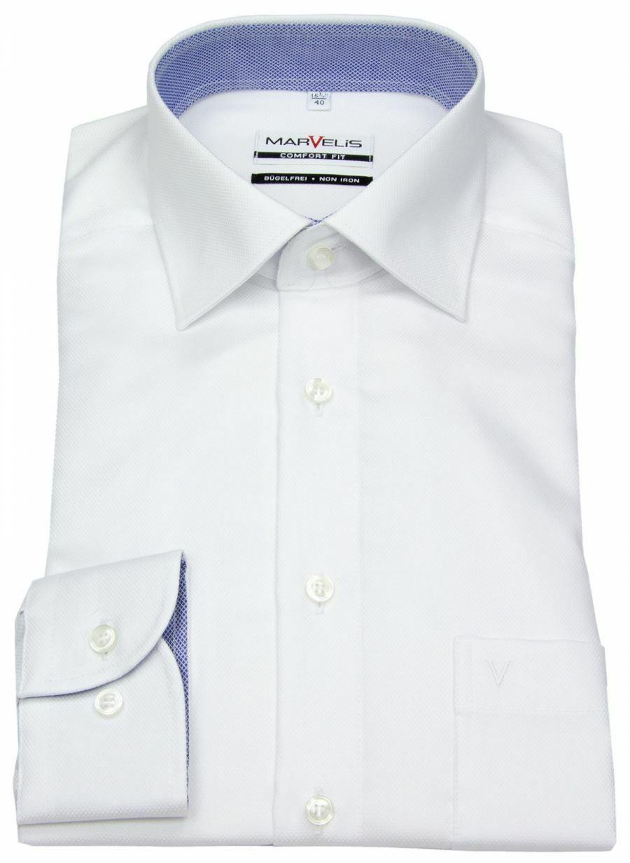 White Textured Contrast Spread Collar