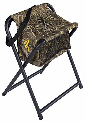 Extra Wide Seat Foldable Hunting Stool - w  Insulated Cooler Bag Shoulder Strap
