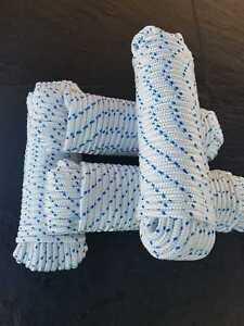 Bootsleine, Polypropylen Seil, Ankerseil, Fender, Tauwerk, weiß, 10 mm, 30 Meter