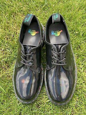 dr martens 1461 rainbow patent platform shoes  new worn