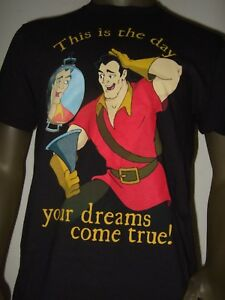 New-Men-039-s-Beauty-And-The-Beast-Gaston-Day-Your-Dreams-Come-True-Disney-Tee-Shirt